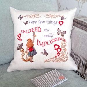 Alice in Wonderland Cushion - Designer Cushions - Talex Interiors