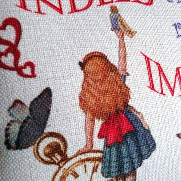 Alice in Wonderland Cushion - Designer Cushions - Talex Interiors