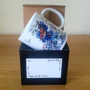 Blue Mug: Birds & Butterflies - Designer Mugs - Talex Interiors