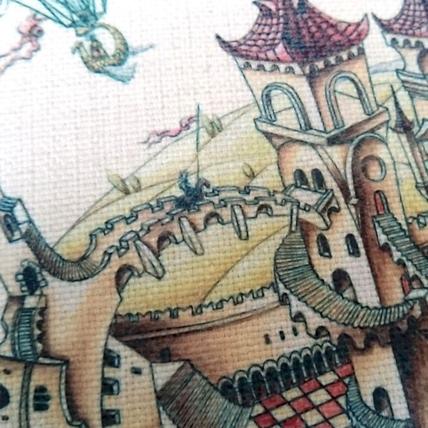 Designer Princess Cushion with Magical Castle - Talex Interiors