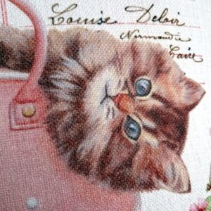 Shabby Chic Cat Cushion - Designer Cushions - Talex Interiors