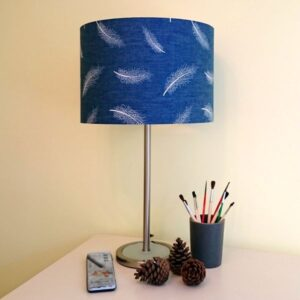 Navy Blue Lamp Shade for Pendant/Ceiling Light or Standard/Table Lamp - Talex Interiors, UK