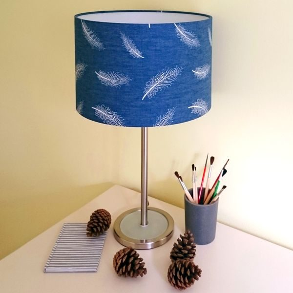 Navy Blue Lamp Shade for Pendant/Ceiling Light or Standard/Table Lamp - Talex Interiors, UK