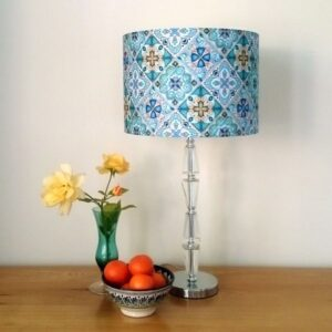 Teal Lamp Shade for Pendant/Ceiling Light or Standard/Table Lamp - Talex Interiors, UK