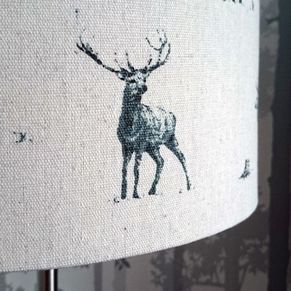 Grey Stag Lampshade for Ceiling or Floor/Table Lamp - Talex Interiors