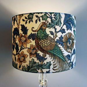 Teal Bird Lamp Shade for Pendant/Ceiling Light or Standard/Table Lamp - Talex Interiors, UK