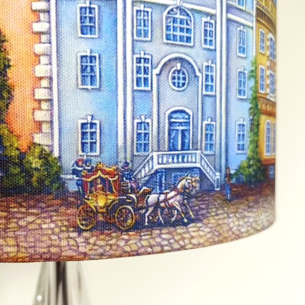 Funky Multi-coloured Lampshade with Fairytale Houses for Pendant/Ceiling Light or Standard/Table Lamp - Talex Interiors, UK