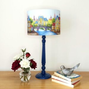 Navy Blue Table Lamp - Designer Lamps - Talex Interiors, UK