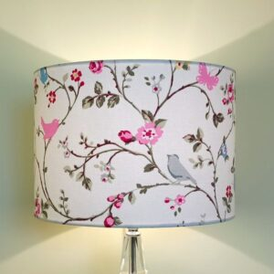 Pink Lampshade with Birds & Butterflies for Pendant/Ceiling Light or Standard/Table Lamp - Talex Interiors, UK
