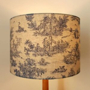 Blue Rustic Lampshade in French Toile De Jouy for Pendant/Ceiling Light or Standard/Table Lamp - Talex Interiors, UK
